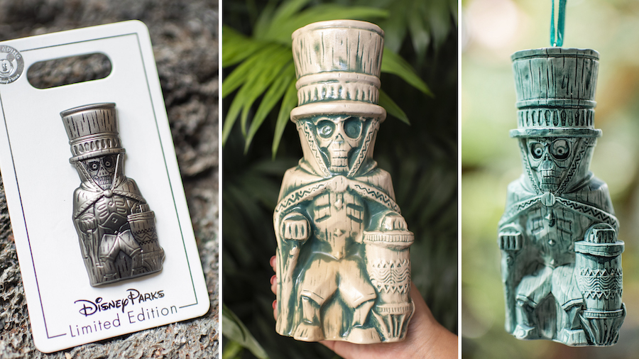 Hatbox Ghost Limited Edition Pin, Tiki Mug, and Ornament from Walt Disney World Resort